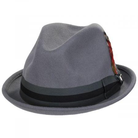 Gain Gray/Dark Gray Wool Felt Fedora Hat