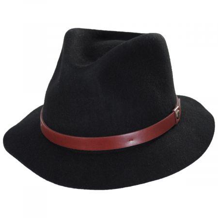 Brixton Hats Messer Stingy Brim Wool Felt Fedora Hat