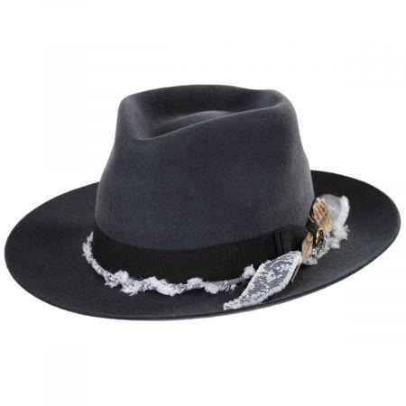 Solitaire Wool Felt Fedora Hat alternate view 9