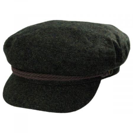 Tweed Wool Blend Fiddler Cap