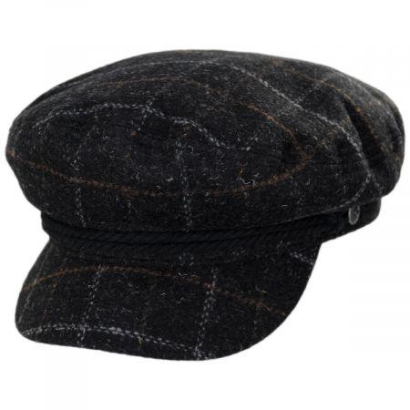 Windowpane Plaid Wool Blend Fiddler Cap