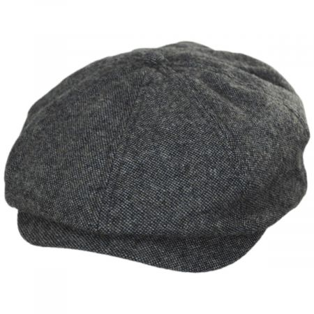Brixton Hats Brood Blue/Gray Tweed Wool Blend Newsboy Cap