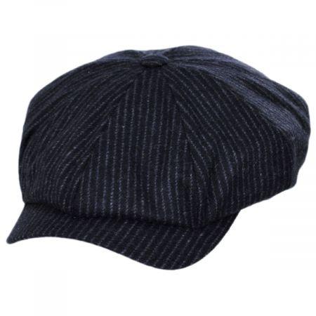 Pinstripe Retro Wool Newsboy Cap