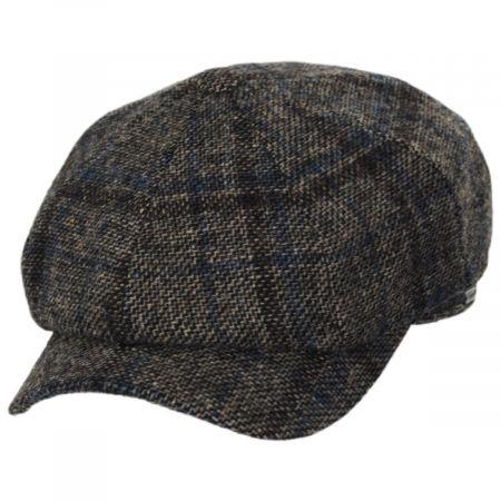 Vintage Shetland Plaid Wool Newsboy Cap
