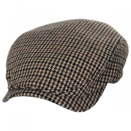 Houndstooth Cashmere Earflap Ivy Cap