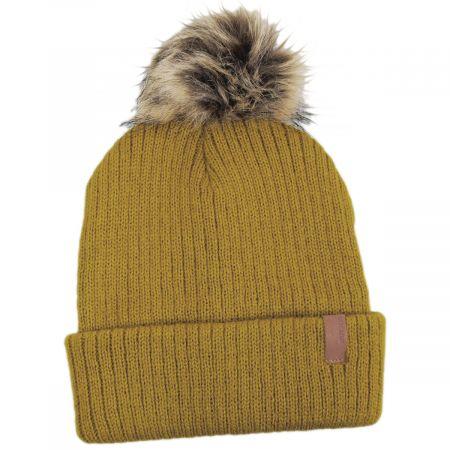 Alison Faux Fur Pom Beanie Hat