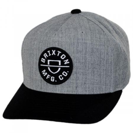 Brixton Hats Crest 5-Panel Snapback Baseball Cap