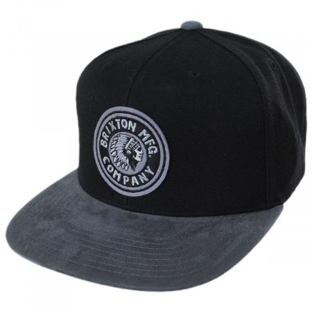 Brixton Hats Rival Black/Charcoal Wool Blend Snapback Baseball Cap
