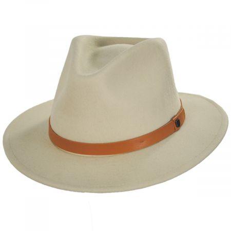 Brixton Hats Messer Natural Wool Felt Fedora Hat