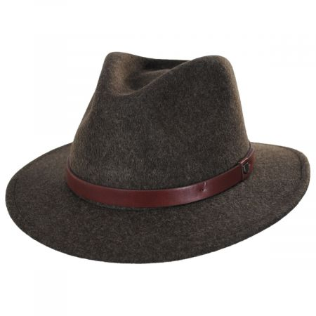 Brixton Hats Messer Brown Mix Wool Felt Fedora Hat