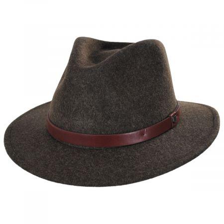 Messer Brown Mix Wool Felt Fedora Hat alternate view 5