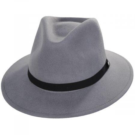 Brixton Hats Messer Packable Wool Felt Fedora Hat