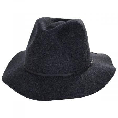 Wesley Black Heather Felt Fedora Hat