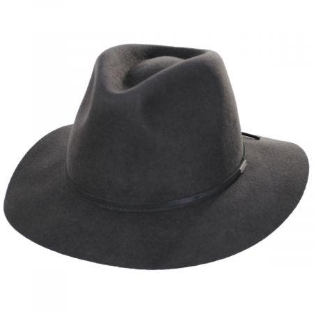 Brixton Hats Wesley Packable Wool Felt Fedora Hat