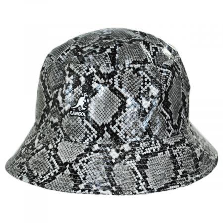 Snakeskin Cotton Blend Bucket Hat
