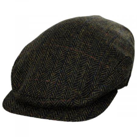 Stefeno Fabian Earflap Herringbone Wool Ivy Cap