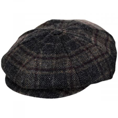 Stefeno Ryker Plaid Lambswool Newsboy Cap
