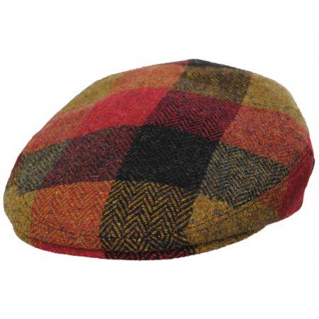 City Sport Caps Donegal Squares Herringbone Tweed Wool Ivy Cap
