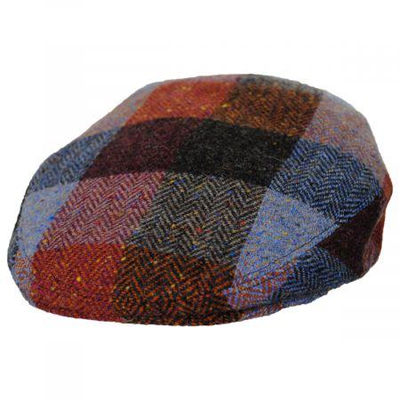Donegal Squares Herringbone Tweed Wool Ivy Cap alternate view 17