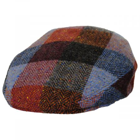 Donegal Squares Herringbone Tweed Wool Ivy Cap alternate view 53