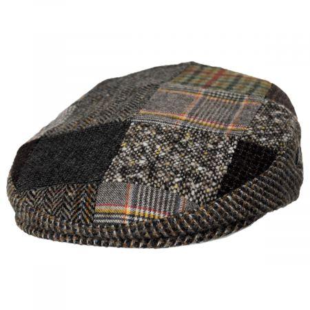 Donegal Patchwork Harris Tweed Wool Ivy Cap alternate view 13