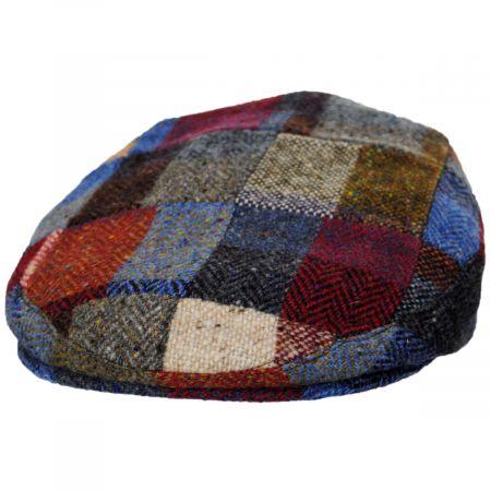 Donegal Patchwork Harris Tweed Wool Ivy Cap alternate view 5