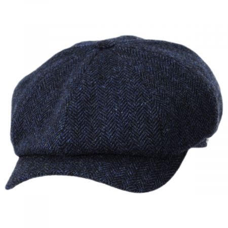 Classic Shetland Wool Herringbone Newsboy Cap alternate view 13
