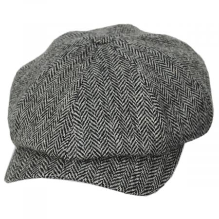 Classic Shetland Wool Herringbone Newsboy Cap alternate view 5