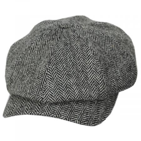 Classic Shetland Wool Herringbone Newsboy Cap alternate view 17