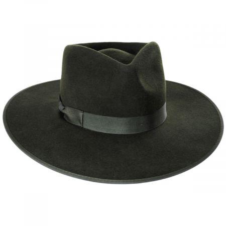 Rancher Forest Green Wool Felt Fedora Hat