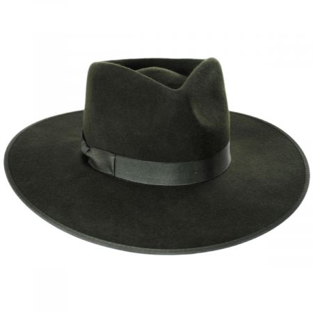 Lack of Color Rancher Forest Green Wool Felt Fedora Hat