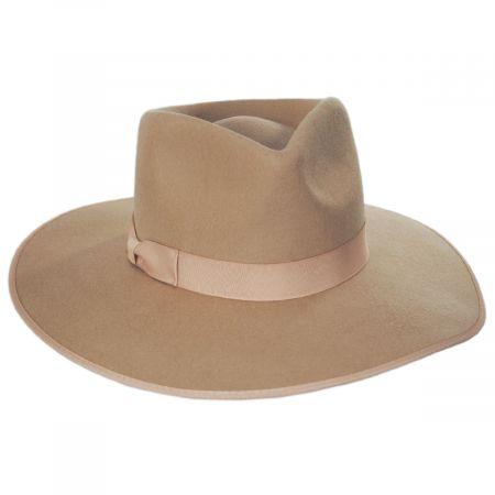 Rancher Caramel Wool Felt Fedora Hat