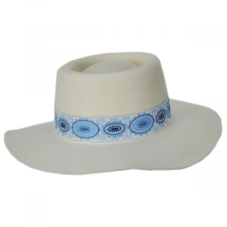 Lolita Wool Felt Boater Hat