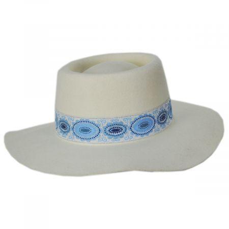 Lolita Wool Felt Boater Hat alternate view 7