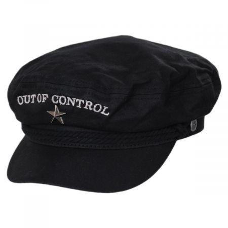 Brixton Hats Joe Strummer Out of Control Waxed Canvas Fiddler's Cap