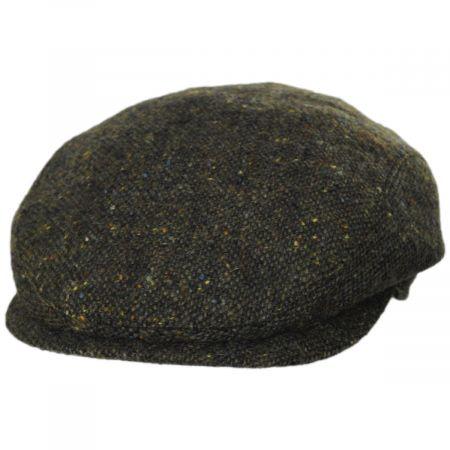 Wigens Caps Magee Dark Green Tweed Lambswool Ivy Cap