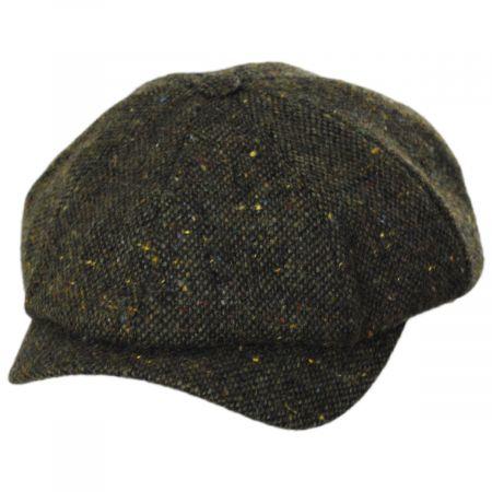 Wigens Caps Magee Dark Green Tweed Lambswool Newsboy Cap