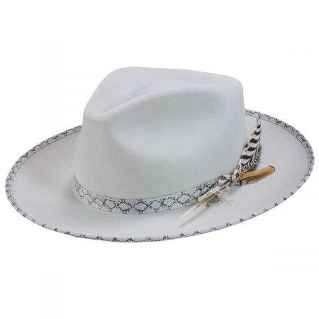 Rattler Fur Felt Fedora Hat