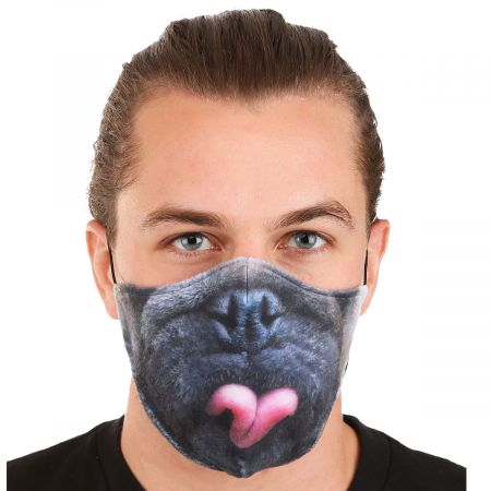 Elope Pug Dye Sublimated Face Cover