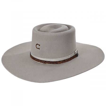 Happy Trails Wool Felt Gambler Hat