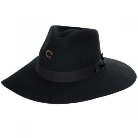Charlie 1 Horse Highway Wide Brim Wool Felt Fedora Hat