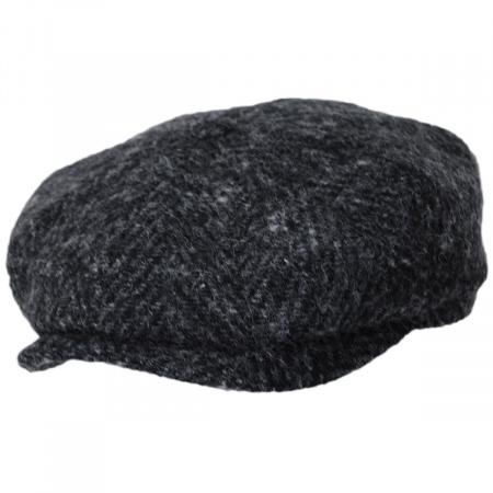 Stetson Hatteras Big Herringbone Wool Newsboy Cap