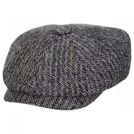 Hatteras Herringbone Wool Newsboy Cap alternate view 17