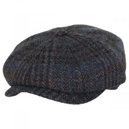 Hatteras Plaid Harris Tweed Wool Newsboy Cap alternate view 9