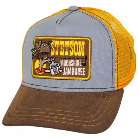 Stetson Moonshine Jamboree Cotton Trucker Snapback Baseball Cap