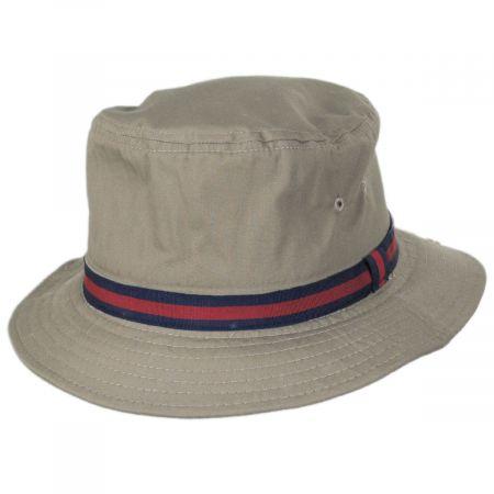 Dorfman Pacific Company Poplin Cotton Blend Rain Bucket Hat