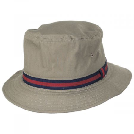 Poplin Cotton Blend Rain Bucket Hat