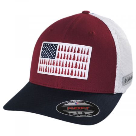 Columbia Sportswear Tree Flag Mesh Flexfit Fitted Baseball Cap