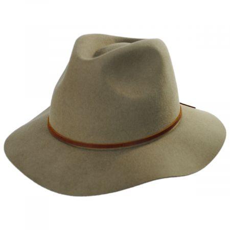 Wesley Light Tan Wool Felt Fedora Hat alternate view 13