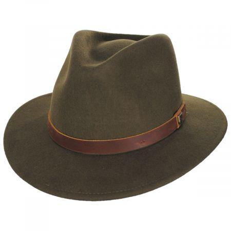 Brixton Hats Fender Refugee Wool Felt Fedora Hat